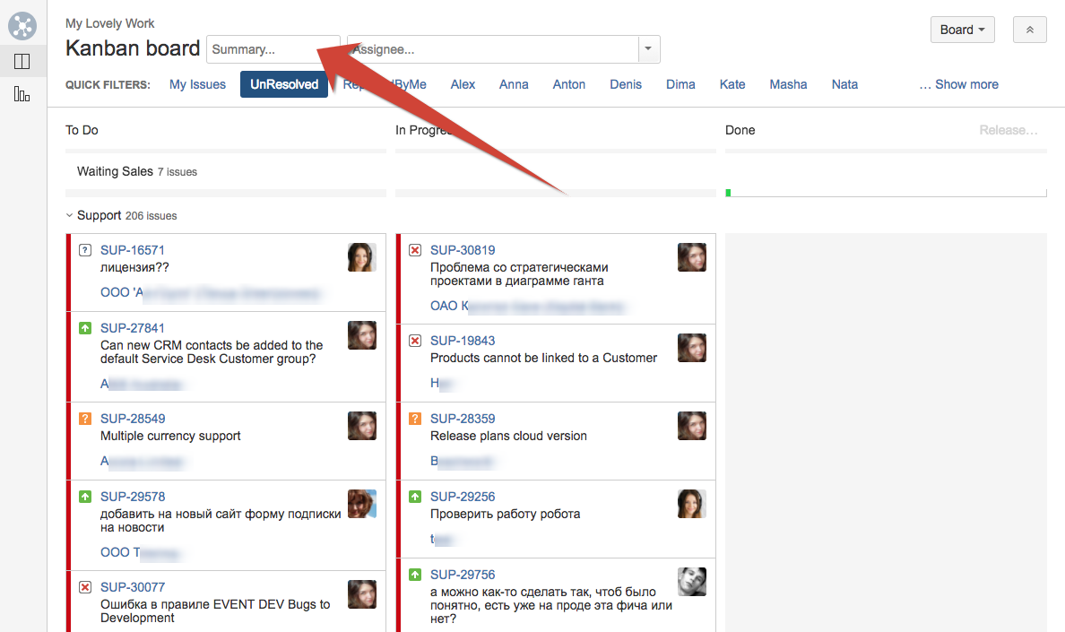 how to create a filter in jira